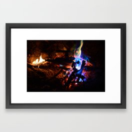 Colorful campfire Framed Art Print