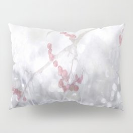 Winter Scene Rowan Berries With Snow And Bokeh #decor #buyart #society6 Pillow Sham