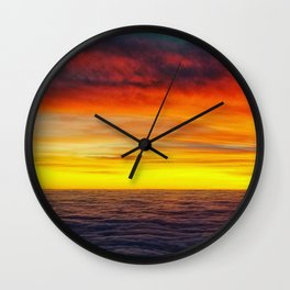 Sunset above the clouds Wall Clock