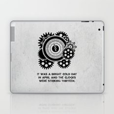 George Orwell - 1984 - Clock Striking 13 Laptop & iPad Skin