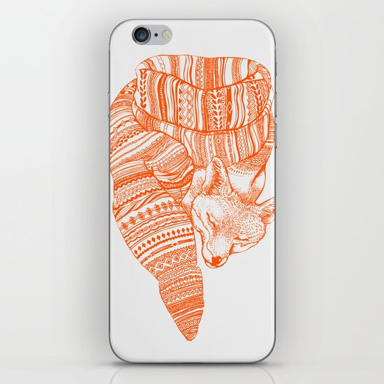 FOX IN THE SNOW iPhone & iPod Skin