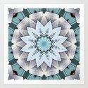Turquoise Layers Mandala by perkinsdesigns