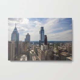 Philadelphia Skyline from City Hall Metal Print