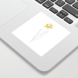 Mustard Daffodil Sticker