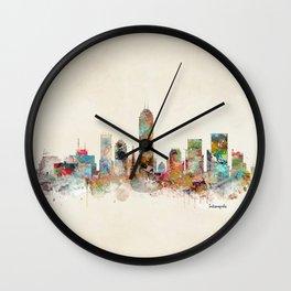 indianapolis indiana Wall Clock