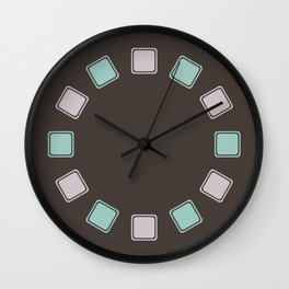 Robin's Egg & Lavender Rounded Squares Wall Clock