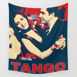 Gardel with Mona Maris in 1934 Tango Pop Art Wall Tapestry