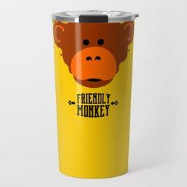 friendly monkey Travel Mug