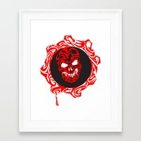 gears of war Framed Art Prints featuring Gears Of War Design by Megan Yiu