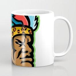 Zulu Warrior Head Mascot Coffee Mug