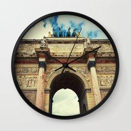 Arc de Triomphe du Carrousel Wall Clock