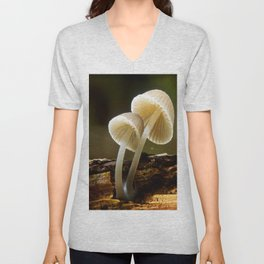 white toadstool Unisex V-Neck