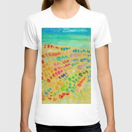 March of the colorful seashells to the beach T-shirt