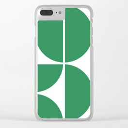 Mid Century Modern Green Square Clear iPhone Case