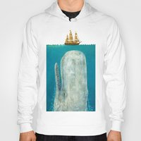 boat Hoodies featuring The Whale - colour option by Terry Fan