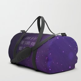 Look Up At The Stars Motivational Quote Duffle Bag