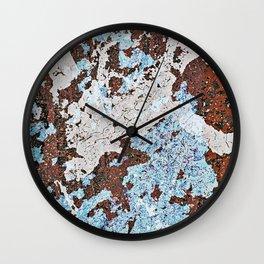 Parking Lot Pollock Wall Clock
