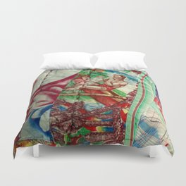 Vintage Hawaiian Quilt Scrap Duvet Cover