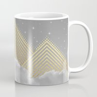 kerouac Mugs featuring Silence is the Golden Mountain (Stay Gold) by soaring anchor designs