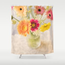 Summer Floral Shower Curtain