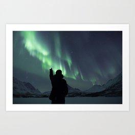 Northern Lights in Tromsø, Norway Art Print