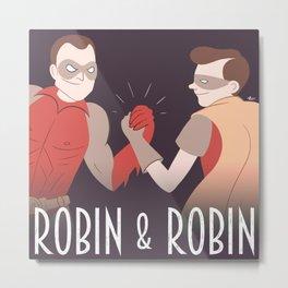 Robin & Robin Metal Print