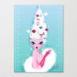 Christmas Coiffure Canvas Print