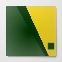 Green-Yellow Metal Print