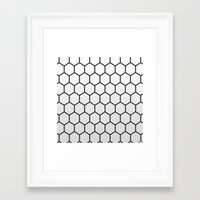 hexagon Framed Art Prints featuring Hexagon by Thomas Official