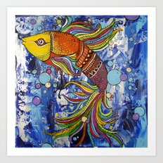 Colorful fish 1 Art Print