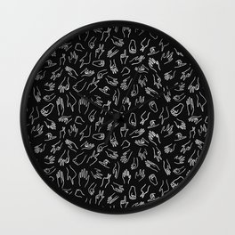 Mixed Signals Pattern in Black Wall Clock