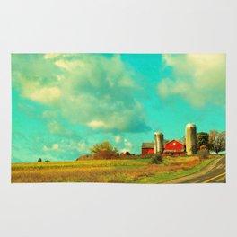 Red Barn, Blue Sky Rug