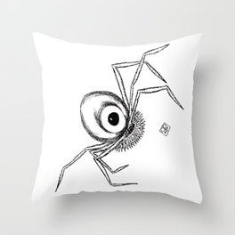 One eyed spidery alien robot Throw Pillow