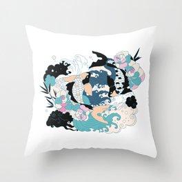 Yakuza Tattoo Throw Pillow