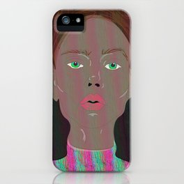 colourful gril dull world iPhone Case