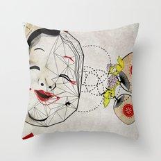 J_mask Throw Pillow