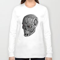 terminator Long Sleeve T-shirts featuring Ornate Terminator by Adrian Dominguez