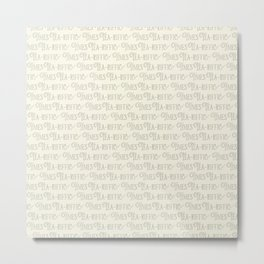 Tea-riffic times lettering beige Metal Print