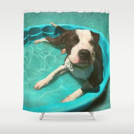 SERENA (shelter pup) Shower Curtain