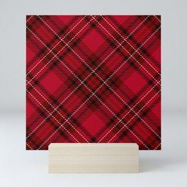 Red tartan Mini Art Print