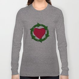 Recycle In Heart Long Sleeve T-shirt