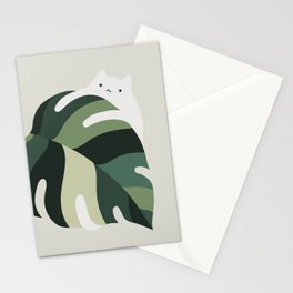 Cat and Plant 12B Stationery Cards