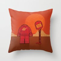 spaceman Throw Pillows featuring Spaceman by Eric Koschnick