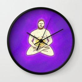 Yoga Pizza Wall Clock