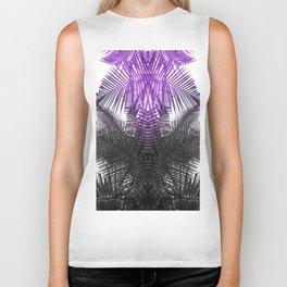 purple gray fern Biker Tank