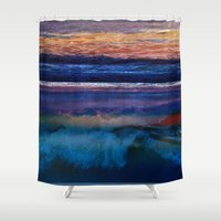 square Shower Curtains featuring Square by Anna Harding