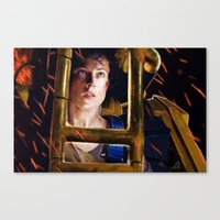 ripley Canvas Prints featuring Ripley by DandyBee