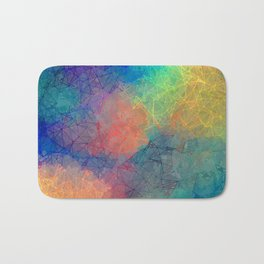 Reflecting Multi Colorful Abstract Prisms Design Bath Mat