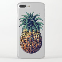 Ornate Pineapple (Colored) Clear iPhone Case