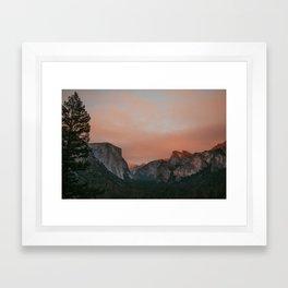 Yosemite National Park Sunset Framed Art Print